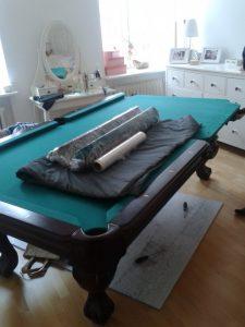 zabezpieczanie stołów bilardowych